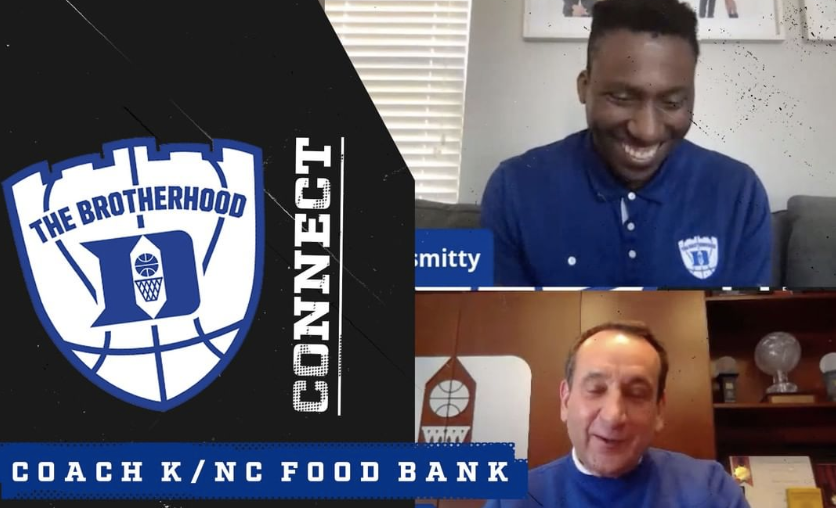 """Coach K Provides Meals for Coronavirus Support – Duke basketball coach Mike Krzyzewski, popularly known as """"Coach K,"""" and former Duke manager Kevin Marchetti, who is a co-founder of Lineage Logistics, have partnered to donate $225,000 to the Food Bank of Central and Eastern North Carolina."""