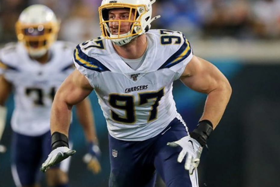 NFL Star, Joey Bosa, Sets New Record With Contract Extension; Believes Little Brother Will Break Record Soon – On Saturday, the Los Angeles Chargers signed defensive end, Joey Bosa, to a 5-year extension worth $135 million. The extension includes $78 million guaranteed at signing and $102 million guaranteed overall, a record for a defensive player. The $78 million guaranteed is 4th all-time among all players, only behind Matt Ryan, Aaron Rodgers, and Kirk Cousins.