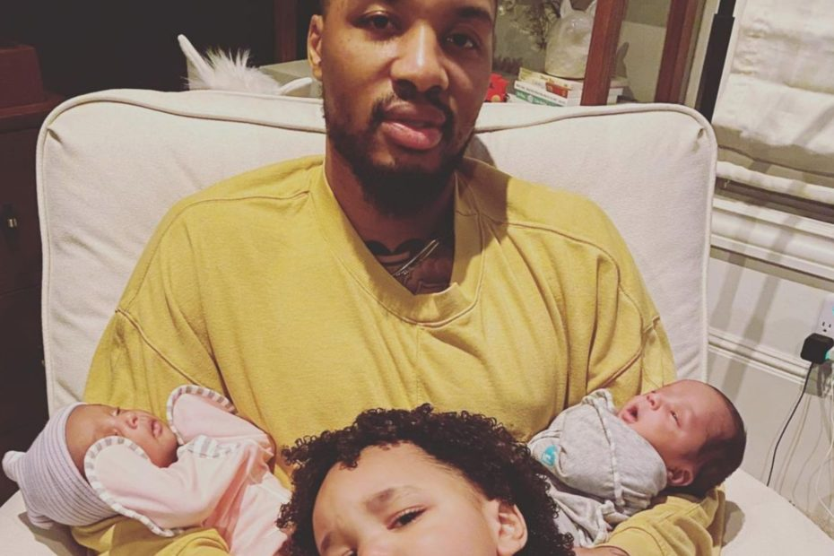 How Damian Lillard and Fiancée Kay'La Hanson Are Doing Since Welcoming Not One, But Two Babies