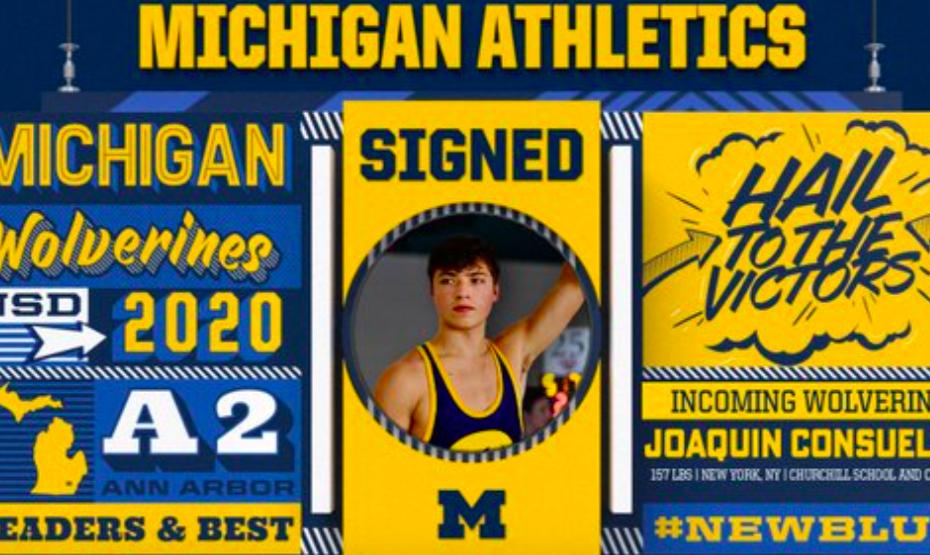 'Go Blue!': Kelly Ripa's Son, Joaquin Consuelos, Signs With University Of Michigan Wrestling Team