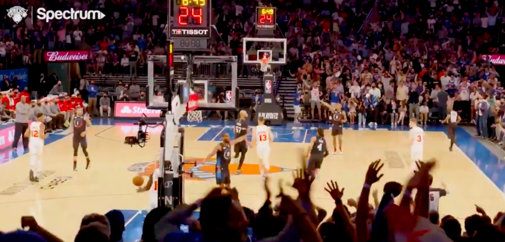 WATCH: Final Seconds Of Knicks First Playoff Win Since 2013