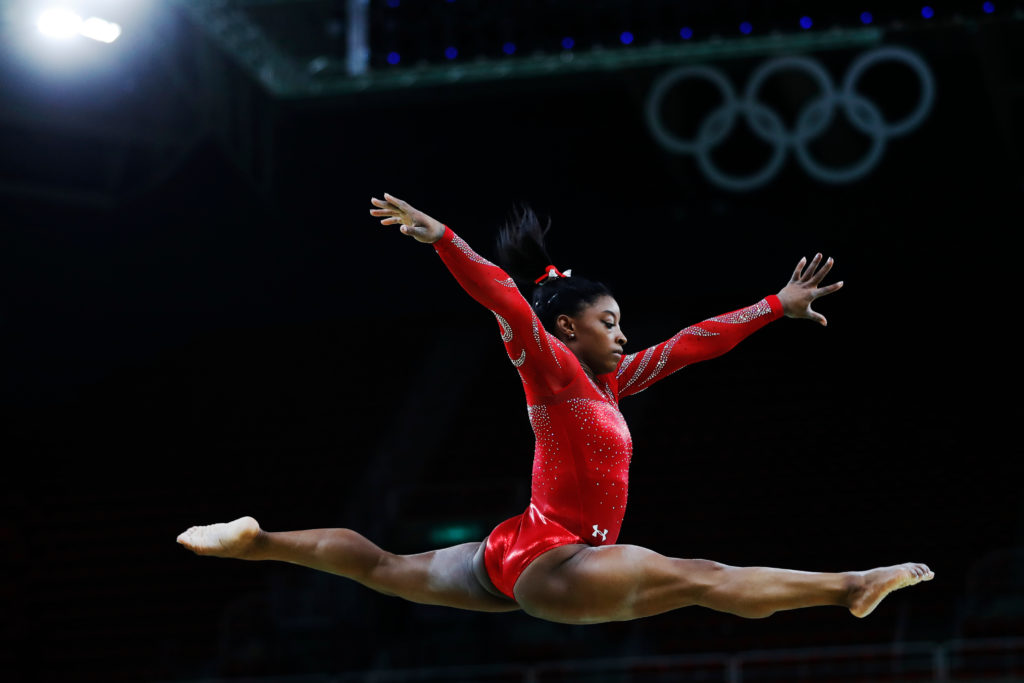 Simone Biles Shows Off Amazing Moves - Watch as She Lands Historic Vault During Podium Training