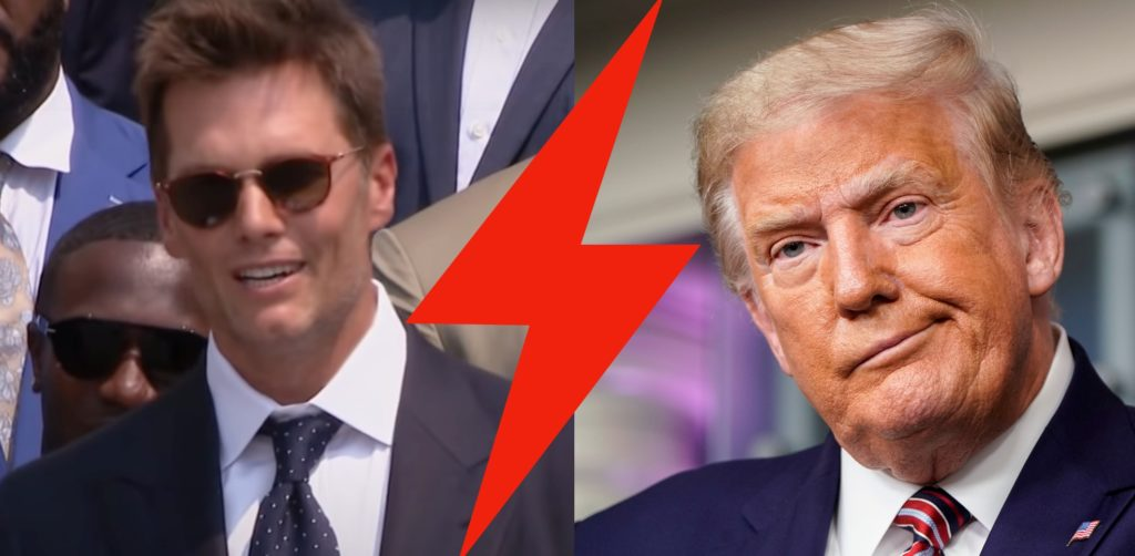 Tom Brady Cracks Jokes at Donald Trump's Expense While Visit President Joe Biden at the White House