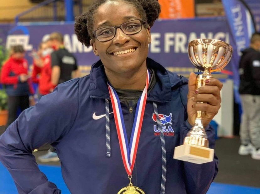 The Amazing Tamyra Mensah-Stock Makes History as 1st African-American to Win Gold in Wrestling