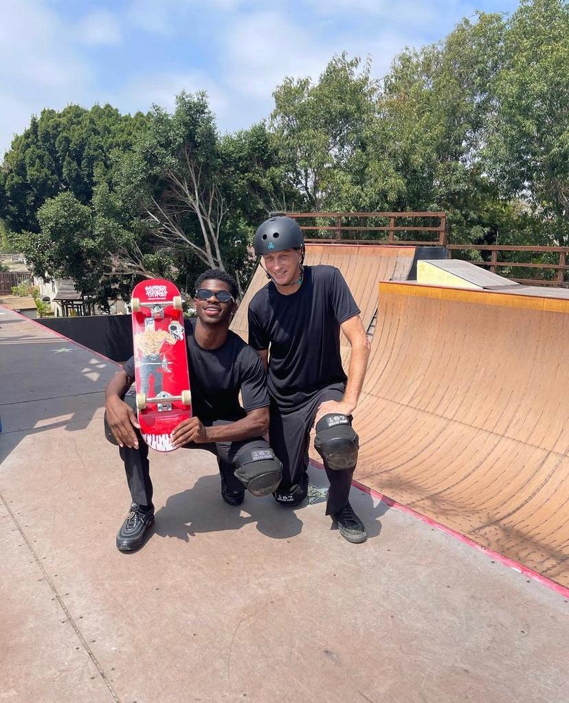 22-Year-Old Grammy-Winning Rapper Lil Nas X Collaborates With Legendary Skateboarder Tony Hawk