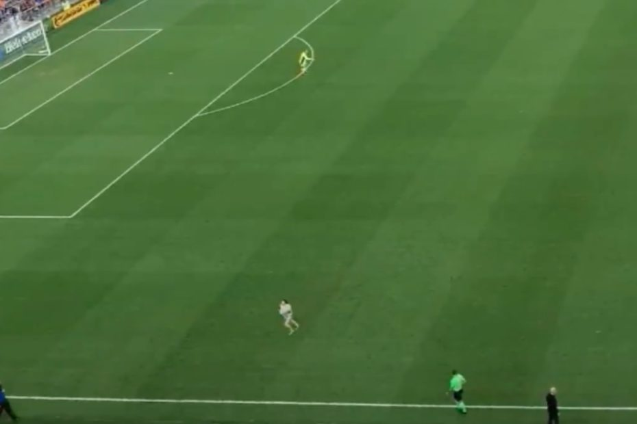 Professional Soccer Game Showcases a 2-Year-Old Tot Being Manhandled by Mom After Running Onto the Field!