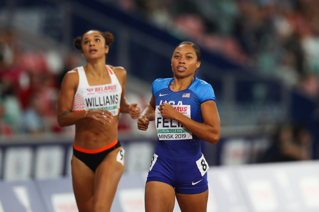 Allyson Felix's 2-Year-Old Daughter Adorably Cheers on Her Mom During Olympic Race – To 35-year-old Allyson Felix, her daughter Camryn represents a multitude of different things. Love and happiness are the obvious ones, but Felix even attributes her drive for success in the 2020 Olympics to her firstborn child. Every decision has an explanation behind it and the decorated track star has explained that her reason for this year's Olympics is due to her title as a mother.
