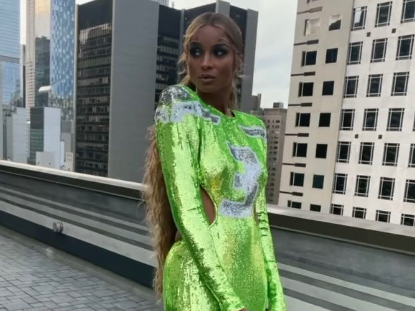 Ciara Gorgeous Take on Husband Russell Wilson's Iconic Seahawks Jersey During 2021 Met Gala