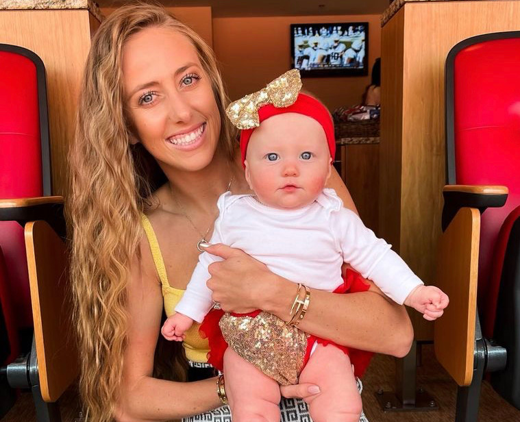 Brittany Matthews and 6-Month-Old Daughter Sterling Celebrate Patrick Mahome's First Game of the Season!