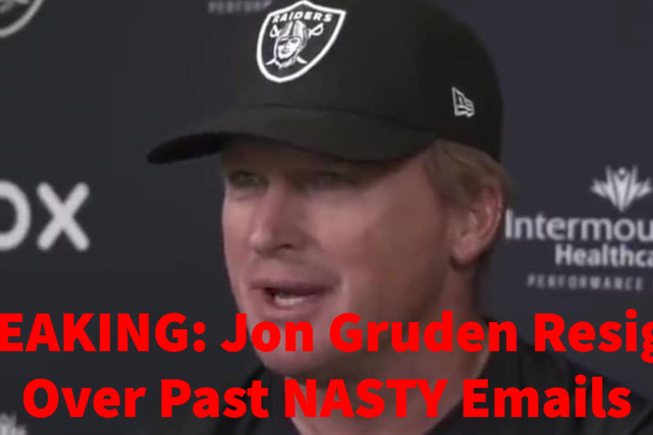 Jon Gruden Resigns as Raiders Head Coach Over Misogynistic, Racist, and Homophobic Emails